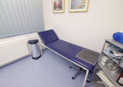 Untersuchungsraum für Blutabnahme